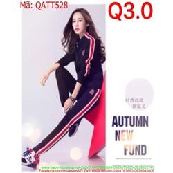 Bộ thể thao nữ áo khoác dài tay QATT528