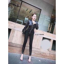 Set áo khoác kaki quần dài nút chân dây kéo MS: S151159 sỉ: 190k