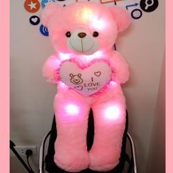Gầu bông - gấu bông phát sáng  - gấu bông cao 1m2