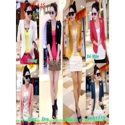 Áo khoác nữ vest nữ dài tay đính tag hổ sành điệu AKA45