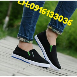 Giày Mọi Nam Nữ Giày Lười Nam Nữ 39 40 41 42 43  Đen WGL005