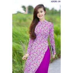 Vải áo dài hoa cỏ Tâm Hải