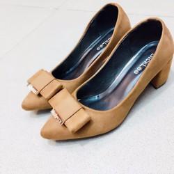 Giày cao gót đế vuông _Hàng nhập