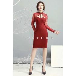 Đầm Body Tay Ren Quảng Châu
