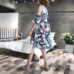 Đầm khoét vai họa tiết - LZQZ171105