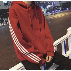 Áo Hoodie 3 Line Đỏ