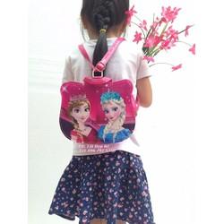 Túi xách kết hợp dáng ba lô hình công chúa Elsa Anna