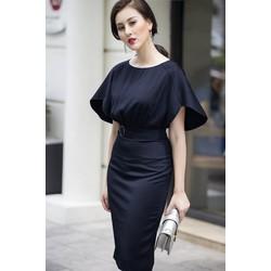 Đầm công sở tay cánh tiên đẹp như HH Mỹ Linh - Xanh - Size M L XL