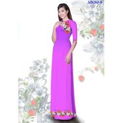 Vải áo dài in hoa Ngọc Huyền