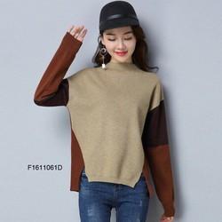 Áo len tay phối màu cổ lọ hàng nhập! MS: S161152 Giá sỉ: 160k