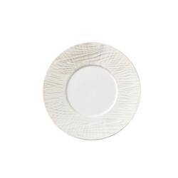 Đĩa gốm sứ ngọc trai Nhật Bản dùng ăn tối 27cm - họa tiết chấm gỗ