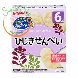 Snack gạo Pigeon cho bé 6m Vị Rong biển