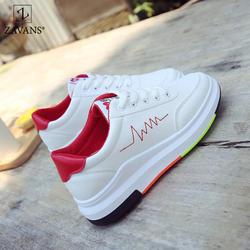 Giày thể thao nữ tăng chiều cao cổ ngắn nhập khẩu ZAVANS - Viền Đỏ