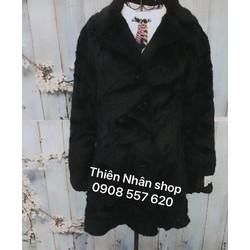 áo khoác dạ cổ phối lông hàng si tuyển