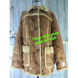 áo khoác dạ màu gỗ cây hàng si tuyển