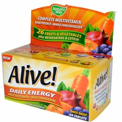Vitamin bổ sung năng lượng hàng ngày Alive Daily Energy