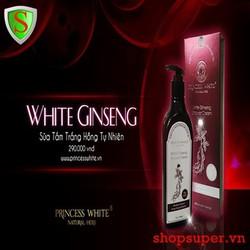 Sữa tắm dưỡng trắng Hồng Sâm - White Ginseng - Princess White