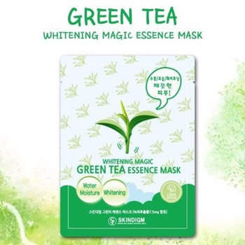 Image result for Mặt Nạ Dưỡng Da Skindigm Green Tea Essence Mask