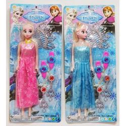 Vỉ búp bê Elsa vương miện cho bé gái