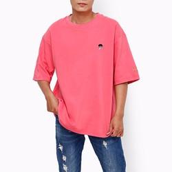 Áo thun nam xuất khẩu big size tay ngắn màu hồng