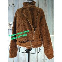áo khoác dạ lông xù hàng si tuyển