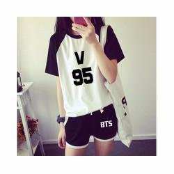 Bộ đồ BTS mặc ở nhà vải cotton dày siêu mát, chất lượng loại 1