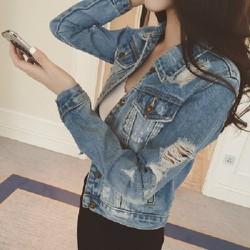 áo khoác jean nữ, áo khoác jean