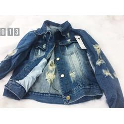 áo khoác jean rách 013
