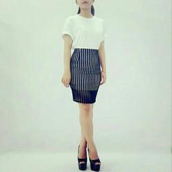 Chân váy ren công sở Thái Lan