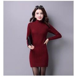 Đầm len body tay dài cao cấp