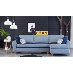 Ghế Sofa góc gia đình vải bố