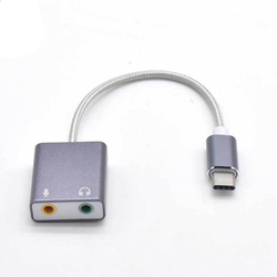 Cáp USB type-C ra 2 lổ micro và tai nghe