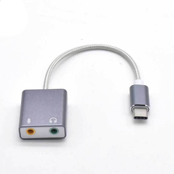 CÁP USB TYPE C RA 2 LỖ MICRO + TAI NGHE