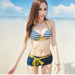 Set đồ bơi kèm quần short điệu đà_M13027