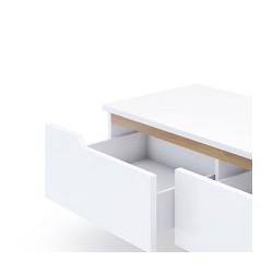 Tủ tivi KTV013 New 1400 hàng xuất khẩu trắng gỗ
