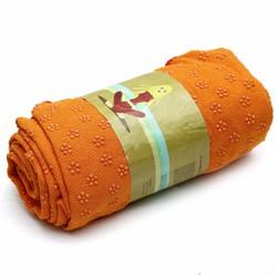Khăn trải thảm tập yoga màu cam