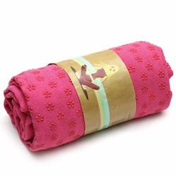 Khăn trải thảm tập yoga màu hồng
