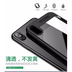 Ốp lưng iPhone X - Viền đen, mặt lưng trong suốt