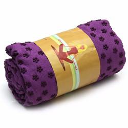 Khăn trải thảm tập yoga màu tím