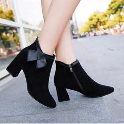 Giày bốt nữ sành điệu, trẻ trung - Mã số MM90165