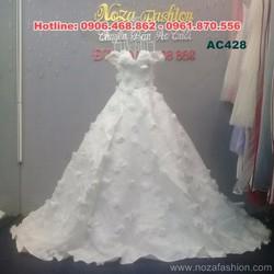 Áo cưới màu trắng trễ vai gợi cảm AC428