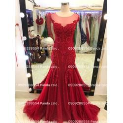 áo cưới đuôi cá đỏ tuoi va đỏ đô hang co sẵn form chuẩn