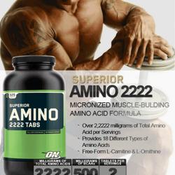 Hồi phục cơ bắp Super Amino 2222 320 tabs hộp móp