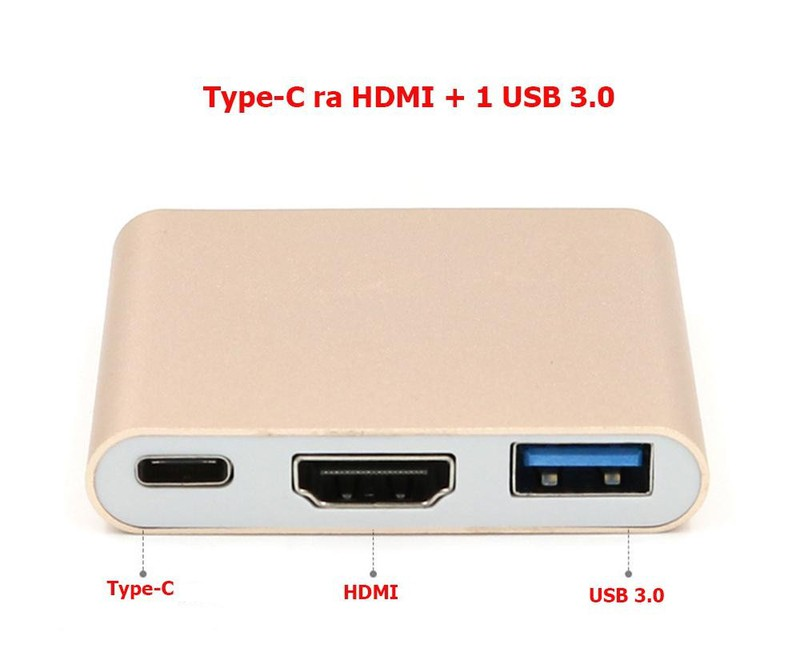 CÁP CHUYỂN TYPE-C RA VGA VÀ USB 3.0 CÓ NGUỒN LOẠI TỐT 2