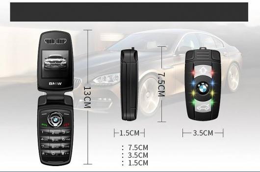 Điện thoại BMW V10 mini nắp gập tinh tế Full Box 1