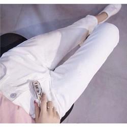 Quần jean baggy trắng
