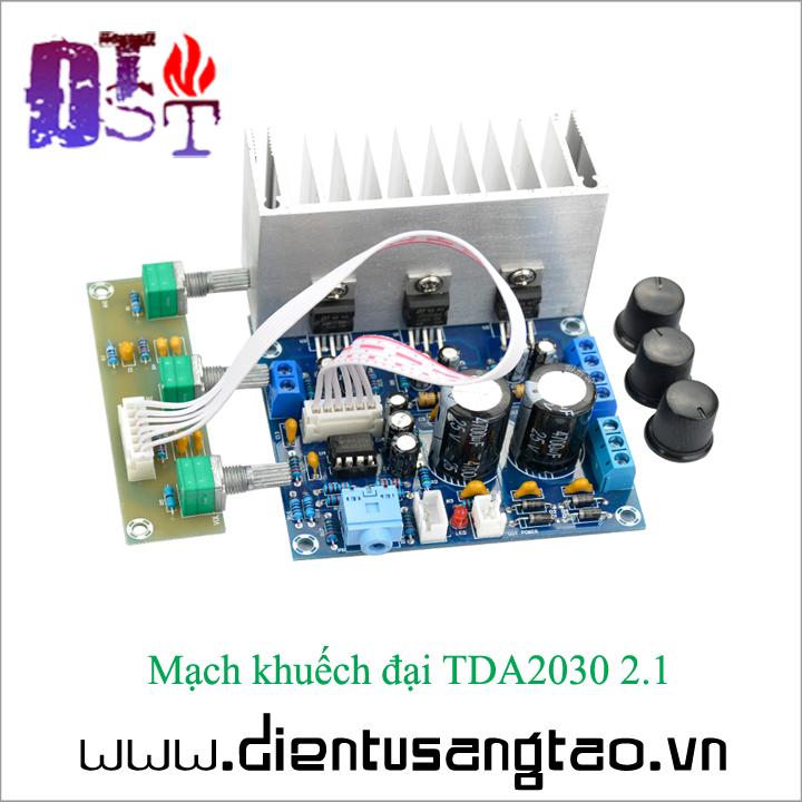 Mạch khuếch đại TDA2030 2.1 1