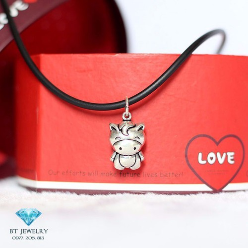 [Freeship 99k] dây chuyền cao su nữ c harm tuổi ngọ chất liệu cao cấp - bt jewelry