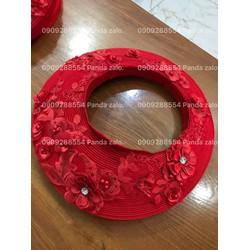 khăn đóng ao dài truyền thống dính thiết kế ren nổi hàng co sẵn