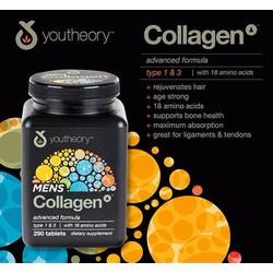 Viên Uống Collagen youtheory men 290 viên của Mỹ